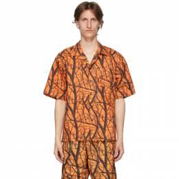 John Elliott Orange Camp Shirt E050N10556A