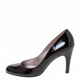 Salvatore Ferragamo Black Patent Leather Nene Pumps Size 38.5 297179