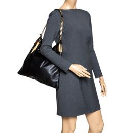 Gucci Black Leather 1970 Shoulder Bag 296872