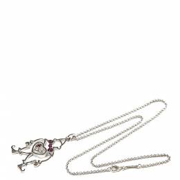 Chopard Happy Diamonds Clown 18K White Gold Pendant Necklace 293946
