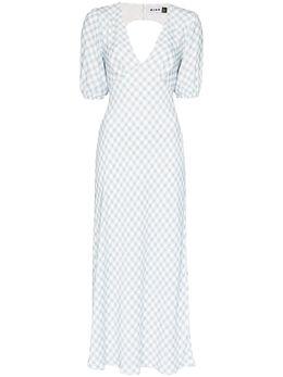 Rixo платье в клетку гингем RIX10532320910VISCOSE
