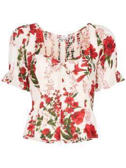 Reformation блузка Delevan с вырезом в форме сердца 1305145RGE