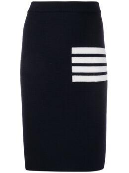 Thom Browne юбка узкого кроя с полосками 4-Bar FKK061A00014