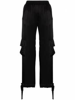 Materiel атласные брюки карго F20TAM17384PABLK