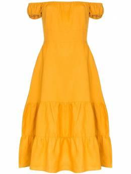 Reformation платье Toulouse с открытыми плечами 1304361OCR