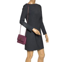 Salvatore Ferragamo Old Rose Leather Ginny Shoulder Bag 297701