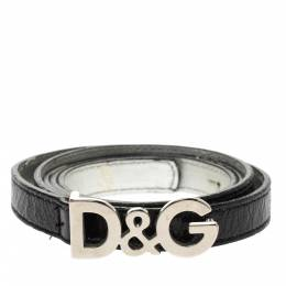 Dolce&Gabbana Black Patent Leather Belt 95CM 297709