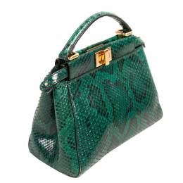 Fendi Green Python Mini Peekaboo Bag 297590
