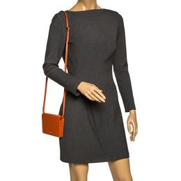 Gucci Orange Microguccissima Leather Flap Clutch Bag 297162