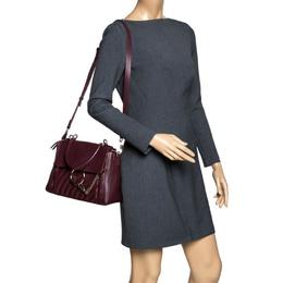 Chloe Burgundy Leather Small Faye Day Shoulder Bag 296972