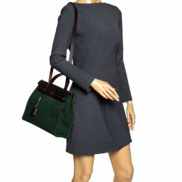 Hermes Green/Cacao Canvas and Leather Herbag Zip 31 Bag 297101