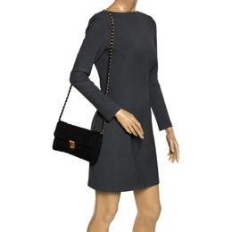 Prada Black Nylon Flap Shoulder Bag 297664