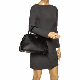 Prada Black Leather Sidonie Top Handle Bag 297666