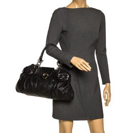 Salvatore Ferragamo Black Leather Marissa Shoulder Bag 297456