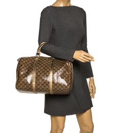 Gucci Gold/Beige GG Crystal Canvas Large Joy Boston Bag 297181