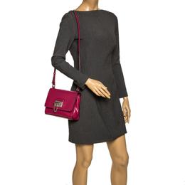 Dolce&Gabbana Hot Pink Leather Monica Shoulder Bag 297237