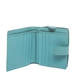 Bottega Veneta Turquoise Woven Leather French Wallet 297524