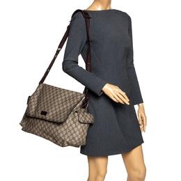 Gucci Beige/Brown GG Supreme Canvas Plus Diaper Bag 297083