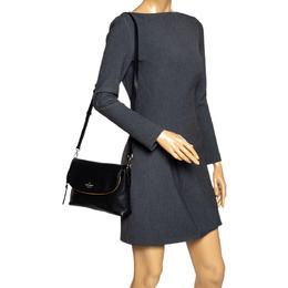 Kate Spade Black Leather Polly Shoulder Bag 297091