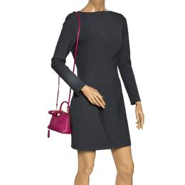 Prada Fuchsia Saffiano Lux Leather Mini Promenade Crossbody Bag 297715