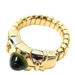 Bvlgari Tubogas 18K Yellow Gold Ring Size 49 293920