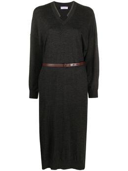 Brunello Cucinelli платье-джемпер тонкой вязки M14817A92C055