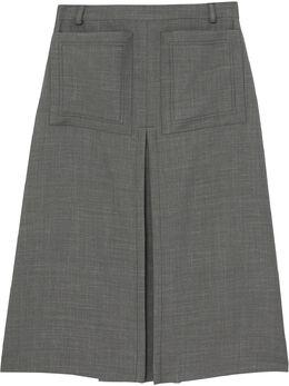 Burberry юбка А-силуэта со складками 4564103