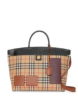 Burberry сумка Society в клетку Vintage Check 8012362