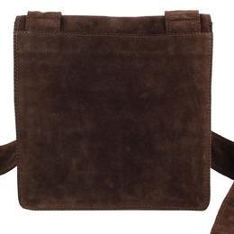 Chanel Brown Suede Messenger bag 297568