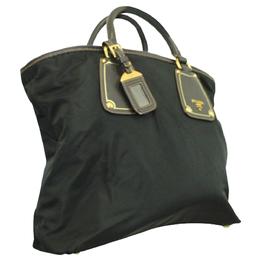 Prada Black Nylon Tote Bag 296976
