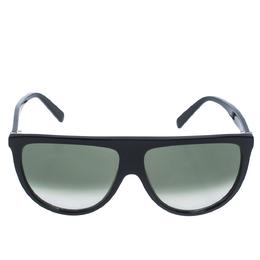 Celine Black/Dark Green Gradient CL41435/S Oversize Sunglasses 297934