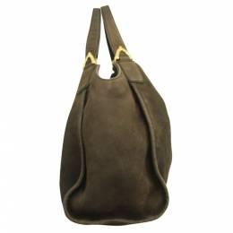 Gucci Brown Leather Medium Stirrup Bag 296739
