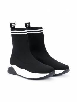 Balmain Kids кроссовки-носки 6N0016TNX410