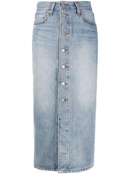 Levi's джинсовая юбка на пуговицах 858740001