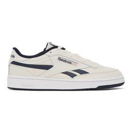 Reebok Classics Off-White and Navy Club C Revenge Sneakers FV9878