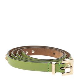 Valentino Green Leather Rockstud Belt 85CM 297706