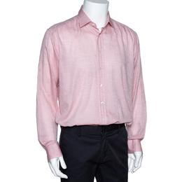 Etro Light Pink Paisley Patterned Long Sleeve Shirt XXL 297793