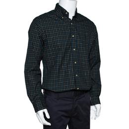 Ralph Lauren Green Checked Cotton Custom Fit Shirt M 297852