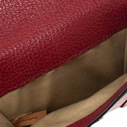 Chloe Red Leather Compact Wallet 298190