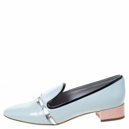 Dior Blue Leather Bow Ballet Flats Size 36 297747