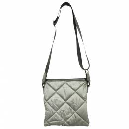 Burberry Grey Fabric Quilted Leather Crossbody Bag 280600