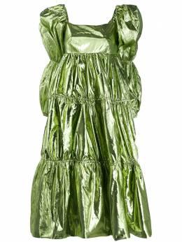Rejina Pyo ярусное платье с эффектом металлик F264