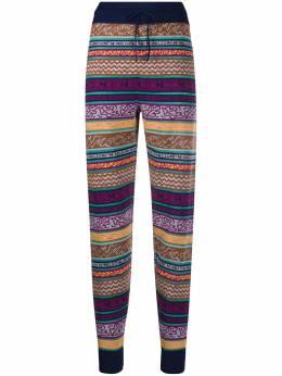 M Missoni брюки с кулиской и геометричным узором 2DI002072K006G