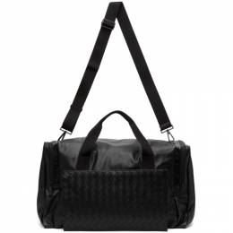Bottega Veneta Black Intrecciato Packable Duffle Bag 609942 VCQH1