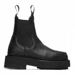 Eytys Black Snake Ortega Chelsea Boots ORSB