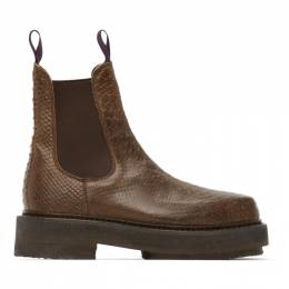 Eytys Brown Snake Ortega Chelsea Boots ORST