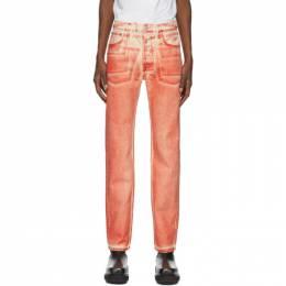 Helmut Lang Red Masc Hi Straight Jeans K05DM202