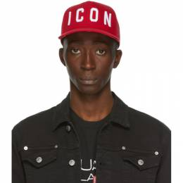 Dsquared2 Red and White Icon Baseball Cap BCM4001 - 05C00001