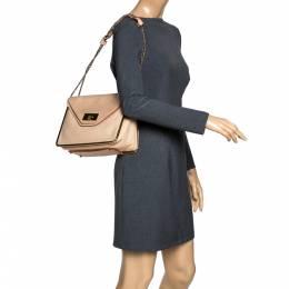 Chloe Beige Leather Sally Medium Shoulder Bag 298225