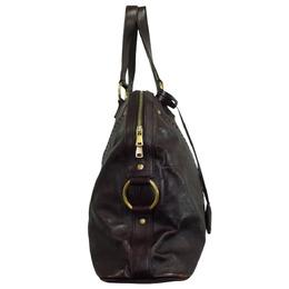 Yves Saint Laurent Dark Purple Leather Muse Tote Bag 287885